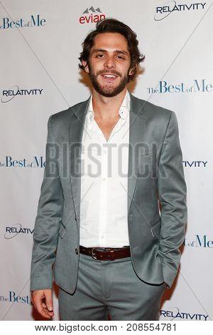 Singer Thomas Rhett attends the Nashville screening for