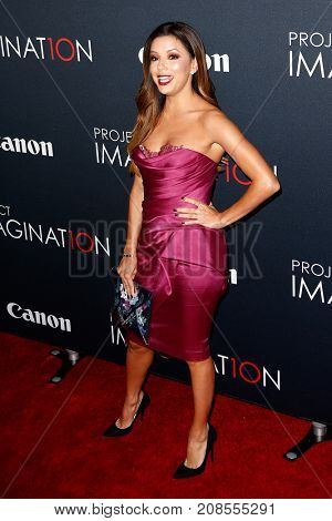 NEW YORK- OCT 24: Actress Eva Longoria attends the global premiere of Canon's