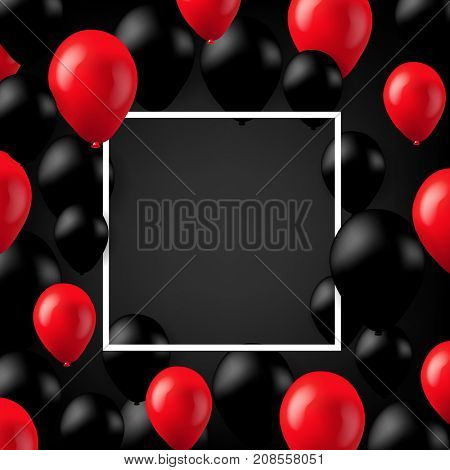Black Friday Poster With Balloons