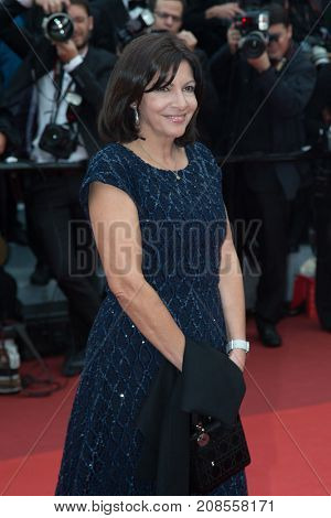 CANNES, FRANCE - MAY 11: Anne Hidalgo attends the 'Cafe Society' premiere and the Opening Night Gala during the 69th annual Cannes Film Festival at the Palais des Festivals on May 11, 2016 in Cannes