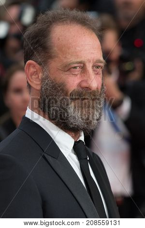 CANNES, FRANCE - MAY 11: Vincent Lindon attends the 'Cafe Society' premiere and the Opening Night Gala. 69th annual Cannes Film Festival at the Palais des Festivals on May 11, 2016 in Cannes