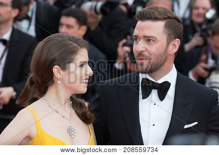 CANNES, FRANCE - MAY 11, 2016: Justin Timberlake, Anna Kendrick attends the 'Cafe Society' premiere and the Opening Night Gala. 69th annual Cannes Film Festival at the Palais des Festivals