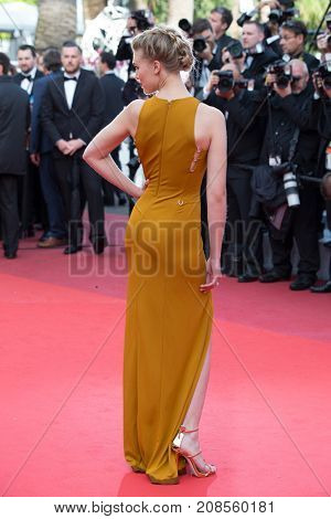 CANNES, FRANCE - MAY 11: Gaia Weiss attends the 'Cafe Society' premiere and the Opening Night Gala during the 69th annual Cannes Film Festival at the Palais des Festivals on May 11, 2016 in Cannes
