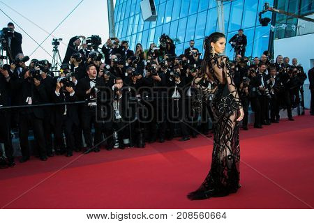 Kendall Jenner  attends the 'From The Land Of The Moon (Mal De Pierres)' premiere at the 69th Festival de Cannes.