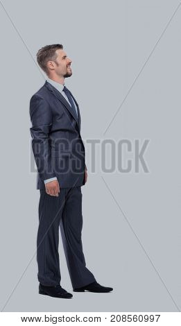 Successfull businessman on white background