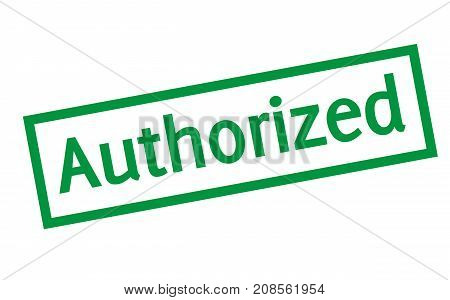 AUTHORIZED sticker. Authentic design graphic stamp. Original series
