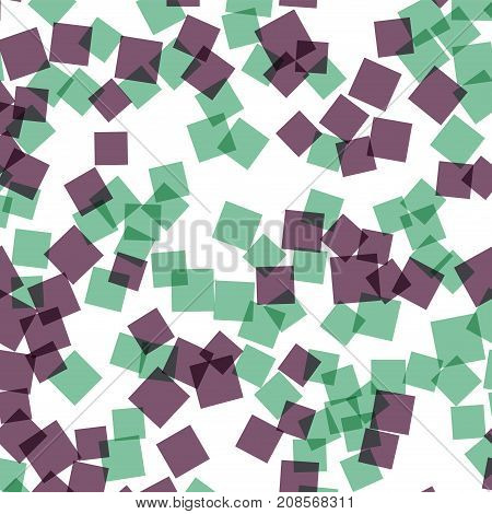 Abstract Squares Pattern. White Geometric Background. Alluring Random Squares. Geometric Chaotic Dec