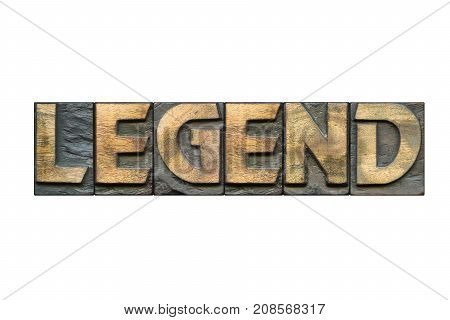 Legend Word Isolated