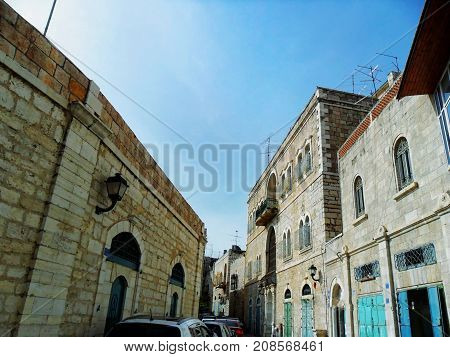 Israel Middle East Bethlehem old city Birthplace of Jesus