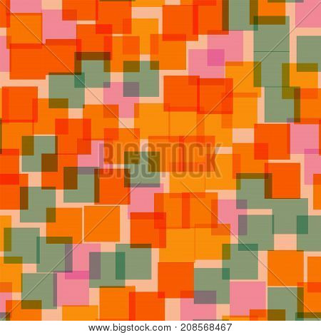 Abstract Squares Pattern. Pink Geometric Background. Fascinating Random Squares. Geometric Chaotic D