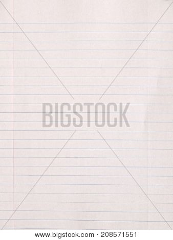 A blank notebook piece of paper background.