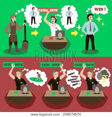 You achieve as per your goals. Challenge, achievement, goal, improvement, aspirations concept illustration vector.