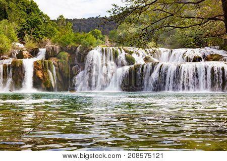 Krka waterfall in the Croatian national park