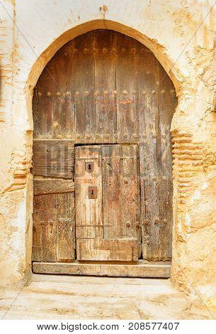 Traditional Entry Door. Fes. Morocco