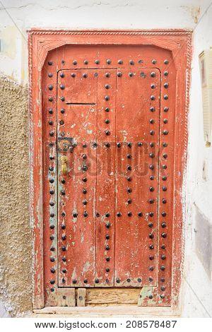 Traditional Entry Door. Moulay Idriss Zerhoun. Morocco