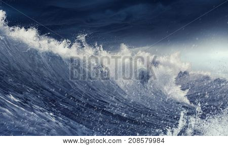 Ice floe on waves
