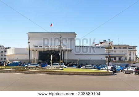 Railway Station Rabat Ville In Rabat. Morocco