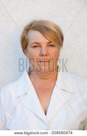 Portrait of  Senior Woman. Old lady. Dear good retired aged  grandmother