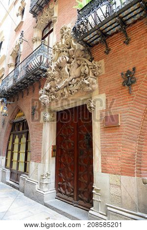 Els Quatre Gats (The Four Cats) on the ground floor of Casa Martí, Barcelona, Catalonia, Spain.