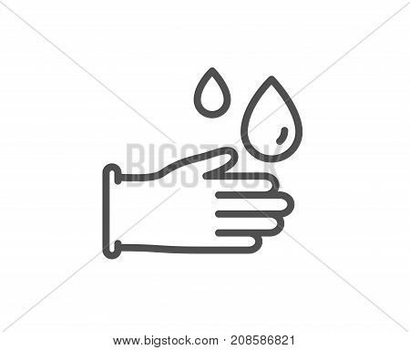 Cleaning Rubber Gloves Line Icon. Hygiene Sign.