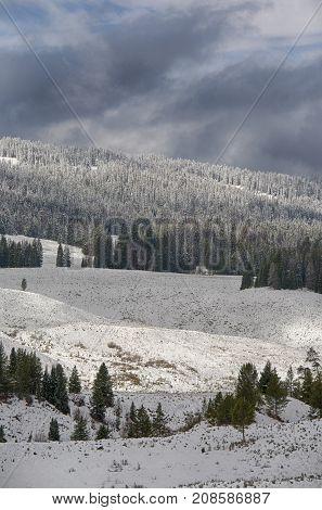 Winter: Grand Teton National Park in Wyoming