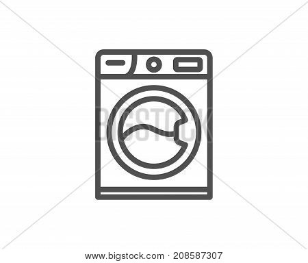 Washing Machine Line Icon. Cleaning Service.