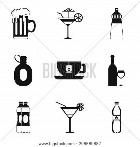 Goblet icons set. Simple set of 9 goblet vector icons for web isolated on white background