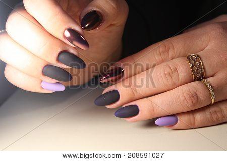 Manicure Design Gel Varnish Color Chrome