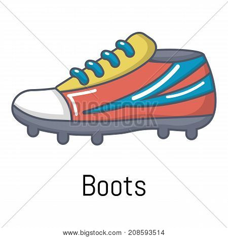 Football boots icon. Cartoon illustration of football boots vector icon for web