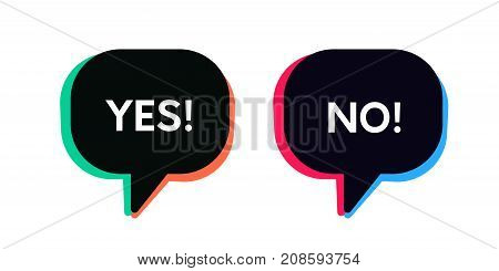 Retro Approve And Reject Icon Signs. Yes And No Bubble Banners.