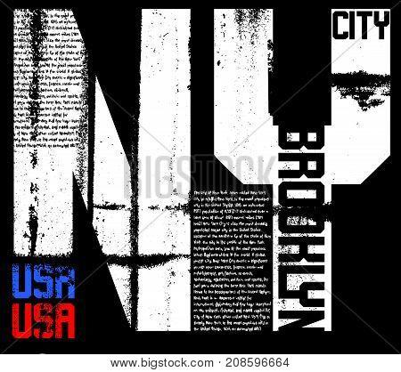 Newyork typography graphic design fashion style new