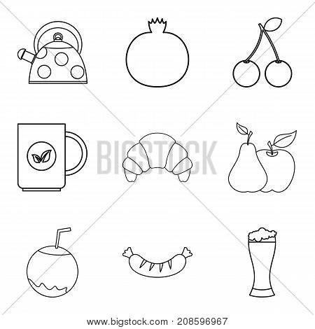Soft tack icons set. Outline set of 9 soft tack vector icons for web isolated on white background