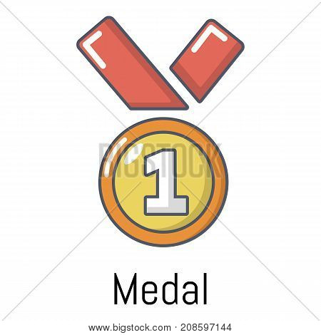 Medal icon. Cartoon illustration of medal vector icon for web