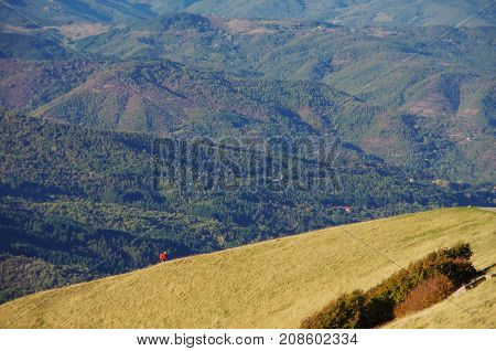 Casentino And Appennines From Pratomagno, Autum Foliage.