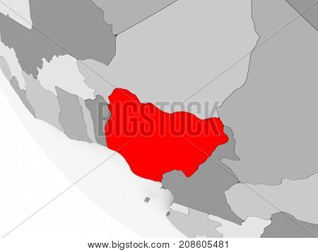 Map Of Nigeria In Red