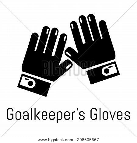Goalkeeper gloves icon. Simple illustration of goalkeeper gloves vector icon for web