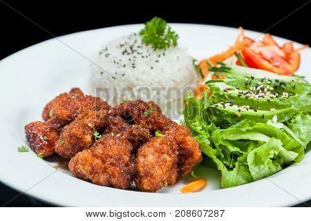 Fried Chicken And Rice