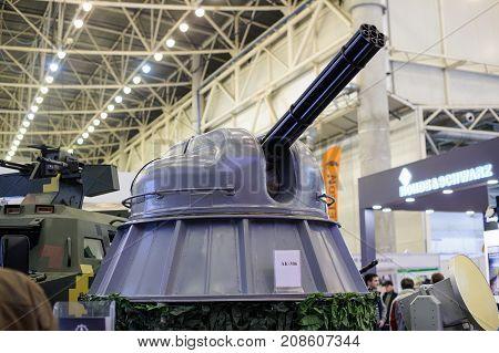 Patrol Boat Ak-306. Modern Ukrainian Naval Artillery 6-barrel Gun At The Exhibition