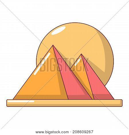 Pyramid egypt icon. Cartoon illustration of pyramid egypt vector icon for web