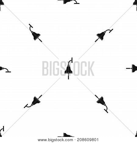 Ship bell pattern repeat seamless in black color for any design. Vector geometric illustration