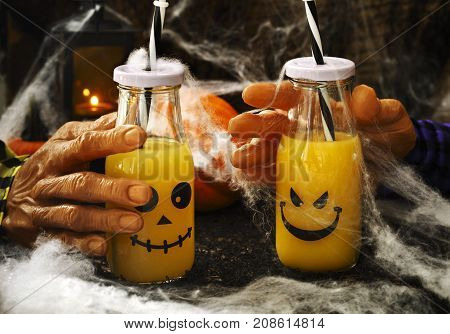 Orange coctail for fall and halloween parties