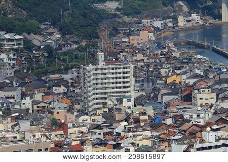 Onomichi City Bird's-eye View