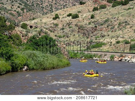 Rafters In Royal Gorge
