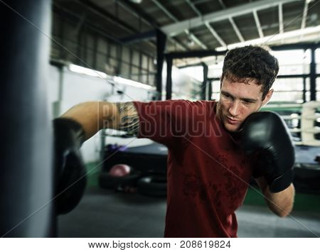 Boxing Challenge Exercise Sport Workout Practise Concept