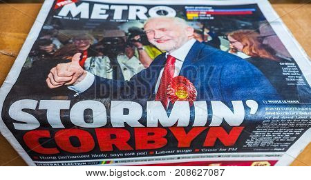 Newspapers Showing Jeremy Corbyn, Hdr