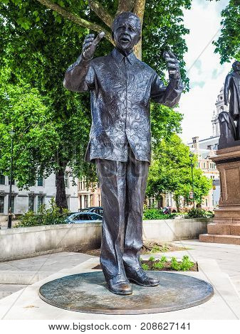 Mandela Statue In London, Hdr