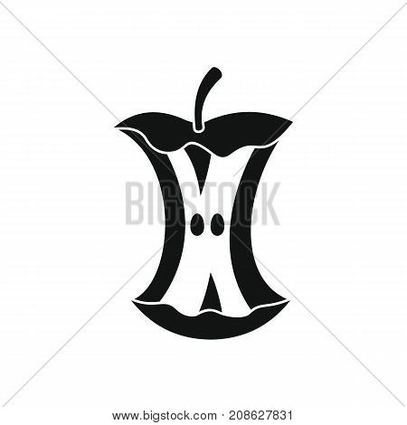 Apple stump icon. Silhouette illustration of Apple stump vector icon for web isolated on white background