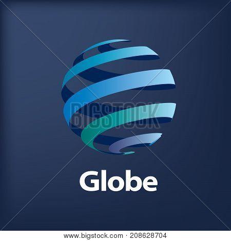 template logo design globe. Vector illustration icon