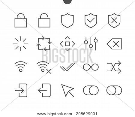 Control UI Pixel Perfect Well-crafted Vector Thin Line Icons 48x48 Ready for 24x24 Grid for Web Graphics and Apps with Editable Stroke. Simple Minimal Pictogram Part 3-4