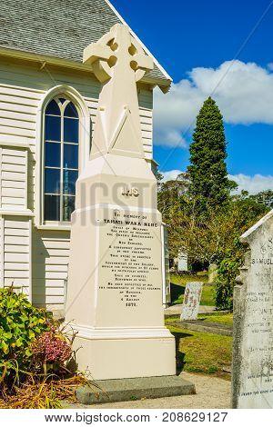 Memorial For The Maori Leader Tamati Waka Nene